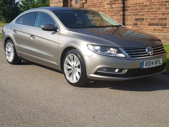 2014 VOLKSWAGEN CC 2.0 GT TDI BLUEMOTION TECHNOLOGY 4d 138 BHP [FULL LEATHER] £10995.00