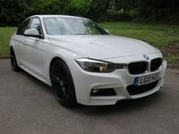 USED 2013 13 BMW 3 SERIES 2.0 320D M SPORT 4d AUTO 181 BHP ALPINE WHITE / RED LEATHER!
