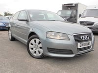 USED 2010 10 AUDI A3 1.6 TDI 3d 103 BHP FULL SERVICE HISTORY, 2 PRE OWNERS, £20 ROAD TAX, UPTO 76MPG.