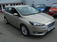 USED 2015 15 FORD FOCUS 1.6 TITANIUM TDCI 5d 114 BHP Retail price £10495,with £500 minimum part exchange allowance,balance price £9995.