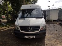USED 2014 64 MERCEDES-BENZ SPRINTER 2.1 313 CDI LWB 1d 129 BHP READY FOR WORK