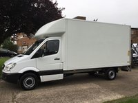 USED 2013 13 MERCEDES-BENZ SPRINTER 2.1 313CDI LWB BOX TAIL LIFT 130BHP. 1 OWNER. FULL SERVICE HISTORY. 1 OWNER. FINANCE. PX WELCOME.