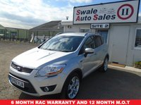 USED 2012 62 FORD KUGA 2.0 TITANIUM TDCI AWD AUTOMATIC 163 BHP £65 PER WEEK OVER 5 YEARS, NO DEPOSIT - SEE FINANCE LINK