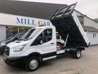 2014 FORD TRANSIT 2.2 350  125 BHP S-CAB TIPPER £14995.00