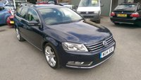 USED 2014 14 VOLKSWAGEN PASSAT 1.6 EXECUTIVE STYLE TDI BMT 5 DOOR ESTATE 104 BHP IN METALLIC BLUE APPROVED CARS ARE PLEASED TO OFFER THIS VOLKSWAGEN PASSAT 1.6 EXECUTIVE STYLE TDI BMT 5 DOOR ESTATE 104 BHP IN METALLIC BLUE IN STUNNING CONDITION INSIDE AND OUT WITH A GRETA SPEC INCLUDING SAT NAV,ALLOYS,FULL LEATHER INTERIOR AND MUCH MORE WITH A FULL SERVICE HISTORY WITH 3 MAIN DEALER SERVICE STAMPS A GREAT ESTATE CAR IN GREAT CONDITION AND ONLY ONE OWNER FROM NEW