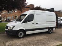 USED 2014 14 MERCEDES-BENZ SPRINTER 2.1 313CDI MWB HIGH ROOF 130BHP. 1 OWNER. FSH. LOW FINANCE.  9 SERVICE STAMPS. 1 OWNER. LOW FINANCE. PX