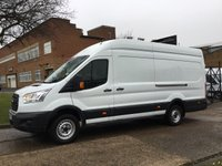 USED 2016 16 FORD TRANSIT 2.2 T350 L4 H3 JUMBO XLWB 125BHP. LOW MILES. FORD WARRANTY 2019. 0% DEPOSIT FINANCE. FORD WARRANTY. PX WELCOME