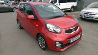 2013 KIA PICANTO 1.0 CITY 3 DOOR 68 BHP IN A STUNNING METALLIC RED WITH ALLOYS ANS AIR CON. £4499.00