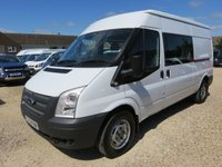 2012 FORD TRANSIT 2.2 TDCI 350 CREW VAN LWB MEDIUM ROOF 16729 MILES £10995.00
