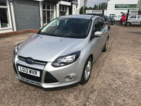 USED 2013 13 FORD FOCUS 1.6 ZETEC TDCI 5d 113 BHP £20 PER YEAR ROAD TAX-1 OWNER-FULL SERVICE HISTORY-DAB RADIO-ALLOY WHEELS