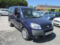 USED 2010 60 FIAT DOBLO 1.4 8V DYNAMIC H/R 5d 77 BHP WHEELCHAIR ADAPTED VEHICLE FOUR PASSENGERS AND WHEELCHAIR