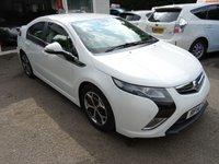 USED 2014 14 VAUXHALL AMPERA 1.4 POSITIV 5d AUTOMATIC PLUG-IN HYBRID (PHEV) 150 BHP Full Service History (Vauxhall + ourselves), One Owner, MOT until December 2018, Automatic, Plug-In Hybrid (PHEV), Amazing fuel economy! Manufacturer stated average MPG = 235.4! ZERO Road Tax! Balance of Vauxhall 8 year/100,000 mile Hybrid Battery Warranty until 2022. FREE 3-Pin UK Charger included