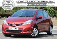 2012 TOYOTA YARIS 1.3 VVT-I TR 5d 98 BHP £5995.00