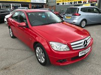 2010 MERCEDES-BENZ C CLASS 1.8 C180 CGI BLUEEFFICIENCY EXECUTIVE SE 4 DOOR 156 BHP IN BLIGHT RED £5999.00