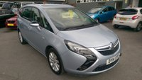 2014 VAUXHALL ZAFIRA TOURER 2.0 SE CDTI 5 DOOR 162 BHP IN METALLIC LIGHT BLUE WITH ONLY 50000 MILES £8299.00