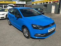 2014 VOLKSWAGEN POLO 1.0 S AC 5 DOOR 60 BHP IN METALLIC BLUE WITH ONLY 38000 MILES. £7299.00