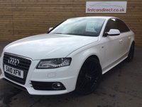 USED 2010 10 AUDI A4 2.0 TDI S LINE 4d 1 OWNER