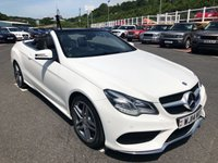 USED 2014 14 MERCEDES-BENZ E CLASS 2.1 E220 CDI AMG SPORT 2d AUTO 170 BHP White, Black leather, AMG Sports package, COMAND Sat Nav & Media, Airscalf ++