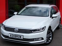 USED 2015 15 VOLKSWAGEN PASSAT ESTATE 2.0 TDI GT BLUEMOTION TECH 5d 150 S/S UPGRADE DISCOVER SAT NAV, UPGRADE AMBIENT LIGHTS, UPGRADE ADAPTIVE CRUISE CONTROL, UPGRADE 18 INCH OXFORD ANTHRACITE ALLOYS, UPGRADE KNEE AIRBAG FOR OFF SIDE, UPGRADE DRIVER & PROFILE SELECTION, UPGRADE UK BUSINESS PACK, UPGRADE SIDE AIRBAGS & SEAT BELT TENSIONERS, DAB RADIO, HEATED FRONT SEATS, BLUETOOTH PHONE & MUSIC STREAMING, XENON HEADLIGHTS WITH LED DAYTIME RUNNING LIGHTS, PARK PILOT FRONT & REAR, LEATHER ALCANTARA, POWER FOLDING MIRRORS, 1 OWNER, FULL SERVICE HISTORY, £20 ROAD TAX