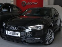 USED 2015 15 AUDI A3 SPORTBACK 2.0 TDI QUATTRO S LINE 5d AUTO 185 S/S UPGRADE BLACK STYLING PACK INCLUDING BLACK GRILLE OPTIC, UPGRADE 18 INCH TITANIUM MATT ALLOYS, UPGRADE S LINE SPORTS SUSPENSION, UPGRADE PRIVACY GLASS, UPGRADE DE-BADGE FEATURE, LED XENON LIGHTS WITH DAYTIME RUNNING LIGHTS, BLACK 1/2 LEATHER INTERIOR, DAB RADIO, BLUETOOTH PHONE & MUSIC STREAMING, AUDI MUSIC INTERFACE FOR IPOD / USB DEVICES (AMI), S TRONIC AUTOMATIC, QUATTRO 4 WHEEL DRIVE, LEATHER FLAT BOTTOM MULTI FUNCTION TIPTRONIC STEERING WHEEL (PADDLE SHIFT), 1 OWNER, FULL SERVICE HISTORY