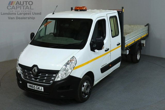 2015 65 RENAULT MASTER 2.3 LL35 125 BHP L3 LWB TIPPER ONE OWNER FROM NEW, MOT UNTIL 25/06/2019