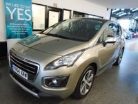 USED 2014 64 PEUGEOT 3008 2.0 HDI ALLURE 5d 150 BHP This 3008 Allure is finished in metallic grey with Black half leather seats. It is fitted with Panoramic roof, Peugeot satellite navigation/ Bluetooth and heads up display, reverse camera, park assist, LED daylights,  cruise control with distance warning, chrome pack, power steering, remote locking, electric windows and mirrors, alloy wheels, CD Stereo/aux port and more. It has had 1 company owner from new and comes with a service history, with stamps and receipts.