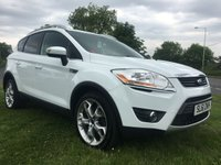 USED 2012 61 FORD KUGA 2.0 TITANIUM TDCI AWD 5d 163 BHP 78000 miles white fsh very clean example