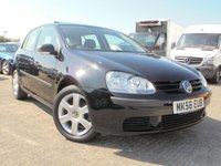 USED 2006 56 VOLKSWAGEN GOLF 1.4 S 5d 79 BHP FULL SERVICE HISTORY 9 STAMPS, 12 MONTHS MOT, 2 KEYS, 1 PREVIOUS OWNER, IMMACULATE CONDITION.