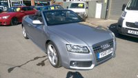 USED 2010 10 AUDI A5 2.0 TDI S LINE 2d 168 BHP IN METTALIC SILVER WITH A ELECTRIC CONVERTABLE ROOF APPROVED CARS ARE PLEASED TO OFFER THIS AUDI A5 2.0 TDI S LINE 2D 168 BHP FULLY ELECTRIC CONVERTIBLE IN METALLIC SLIVER WITH BLACK LEATHER INTERIOR,BLUE SOFT TOP AND MUCH MORE WITH A FULL DOCUMENTED SERVICE HISTORY AT18K 19K, 33K, 50K, 63K, AND 74K.