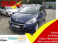 2016 PEUGEOT 208 1.2 VTi Active 5dr 82ps £7425.00