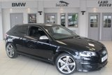 USED 2011 11 AUDI S3 2.0 TFSI QUATTRO S LINE BLACK EDITION 3d 261 BHP FULL BLACK LEATHER SEATS + FULL SERVICE HISTORY + SAT NAV + XENON HEADLIGHTS + HEATED FRONT SEATS + 18 INCH ALLOYS + REAR PARKING SENSORS