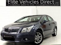2011 TOYOTA AVENSIS 1.8 VALVEMATIC TR 4d 145 BHP £6791.00
