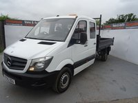 USED 2015 65 MERCEDES-BENZ SPRINTER 2.1 313 CDI C/C MWB 1d 129 BHP mercedes sprinter double cab TIPPER
