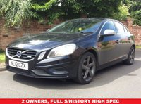 USED 2012 12 VOLVO S60 2.0 D3 R-DESIGN 4d 161 BHP 2 OWNERS, FULL SERVICE HISTORY, 1YR MOT, EXCELLENT CONDITION, ALLOYS, CLIMATE, CRUISE, BLUETOOTH, E/WINDOWS, R/LOCKING, FREE  WARRANTY, FINANCE AVAILABLE, HPI CLEAR, PART EXCHANGE WELCOME,