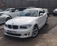 2012 BMW 1 SERIES 2.0 118D EXCLUSIVE EDITION 2d 141 BHP £SOLD