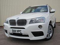 USED 2011 11 BMW X3 3.0 XDRIVE30D M SPORT 5d AUTO 255 BHP