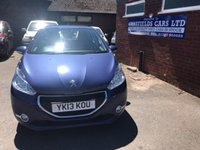 USED 2013 13 PEUGEOT 208 1.6 ACTIVE E-HDI 5d 92 BHP £0 ROAD TAX FULL SERVICE HISTORY 42K MILES