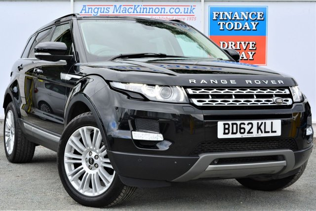 2012 62 LAND ROVER RANGE ROVER EVOQUE 2.2 SD4 PRESTIGE LUX 4x4 AUTO a Stunning High Spec Family SUV with Rear DVDs and Panoramic Roof