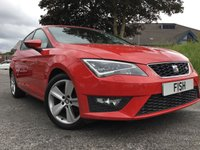 USED 2013 13 SEAT LEON 1.4 TSI FR 5d 140BHP 30 ROAD TAX+2KEYS+SAT NAV+CD+