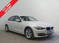 USED 2015 15 BMW 3 SERIES 1.6 316I SPORT 4d AUTO 135 BHP Full BMW Service History, MOT until 26th April 2019, AUTO, Sat Nav, Parking Sensors,  Leather Multi Functional Steering Wheel, stunning red detailing on interior, Cruise Control, Bluetooth, Air Conditioning, Auto Headlights, USB/AUX, Dab Radio, Alloys. Free RAC Warranty and Free RAC Breakdown Cover.