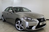 USED 2014 64 LEXUS IS 2.5 300H PREMIER 4DR AUTOMATIC 220 BHP SERVICE HISTORY + HEATED LEATHER SEATS + SAT NAVIGATION + REVERSE CAMERA + BLUETOOTH + CRUISE CONTROL + CLIMATE CONTROL + 18 INCH ALLOY WHEELS