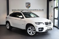 USED 2012 12 BMW X6 3.0 XDRIVE30D 4DR AUTO 241 BHP + FULL BLACK LEATHER INTERIOR + PRO SATELLITE NAVIGATION + XENON LIGHTS + BLUETOOTH + HEATED SPORT SEATS WITH MEMORY + DAB RADIO + CRUISE CONTROL + HIFI SPEAKERS + AUTO AIR CONDITIONING + PARKING SENSORS + 20 INCH ALLOY WHEELS +