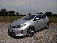 2013 TOYOTA AURIS 1.8 EXCEL VVT-I 5d AUTO 99 BHP £9990.00