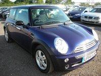 2004 MINI HATCH ONE 1.6 ONE 3d 89 BHP £3000.00