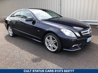 USED 2010 10 MERCEDES-BENZ E CLASS 3.0 V6 E350 CDI DIESEL 231BHP BLUEEFFICIENCY SPORT AUTO COUPE 2 OWNERS, FULL HISTORY, HEATED LEATHER, SAT NAV