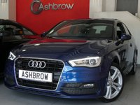 USED 2014 64 AUDI A3 1.2 TFSI S LINE 3d 105 S/S UPGRADE CRUISE CONTROL, UPGRADE REAR ACOUSTIC PARKING SENSORS, UPGRADE COMFORT PACK INCLUDING LIGHT & RAIN SENSORS AUTO DIMMING REAR VIEW MIRROR & WINDSCREEN SUN BAND, UPGRADE SPACE SAVING SPARE WHEEL, LED XENON LIGHTS, BLACK 1/2 LEATHER INTERIOR, DAB RADIO, BLUETOOTH PHONE & MUSIC STREAMING, AUDI MUSIC INTERFACE FOR IPOD / USB DEVICES (AMI), 18 INCH 10 SPOKE ALLOYS, SPORT SEATS, LEATHER FLAT BOTTOM MULTI FUNCTION STEERING WHEEL, DRIVE SELECT, 1 OWNER FROM NEW, FULL SERVICE HISTORY, £30 ROAD TAX