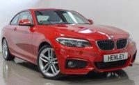 2015 BMW 2 SERIES 2.0 220D M SPORT 2d 188 BHP £14490.00