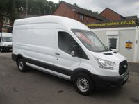 2016 FORD TRANSIT 2.2 125 BHP, 350 MEDIUM WHEEL BASE, HIGH ROOF, BLUETOOTH, ONLY 33k MLS  REMAIN FORD WARRANTY SEPTEMBER 2019   £13500.00
