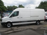 USED 2015 65 VOLKSWAGEN CRAFTER 2.0 TDI, RARE 161 BHP, CR35 BLUEMOTION, LONG WHEEL BASE, HIGH ROOF, CRUISE, BTOOTH