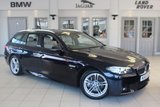USED 2016 16 BMW 5 SERIES 3.0 535D M SPORT TOURING 5d AUTO 309 BHP FULL OYSTER CREAM LEATHER SEATS + FULL BMW SERVICE HISTORY + SAT NAV + BLUETOOTH + HEATED FRONT SEATS + UNDER BMW MANUFACTURERS WARRANTY UNTIL APRIL 2019 + 18 INCH ALLOYS + DAB RADIO + PARKING SENSORS